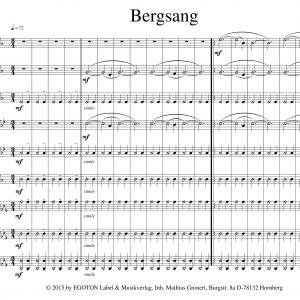 Bergsang, Klanggemälde für Blechbläser von Peter Persohn