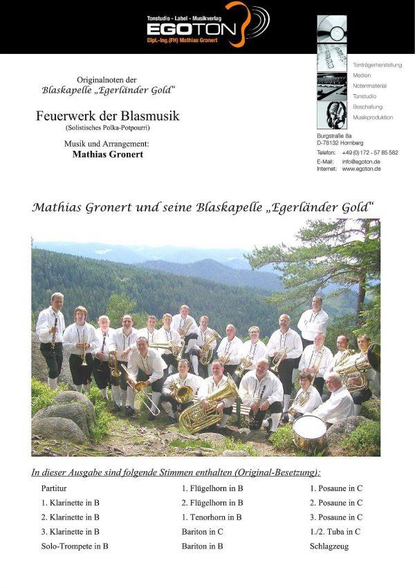 Feuerwerk der Blasmusik, solistisches Polka-Potpourri von Mathias Gronert