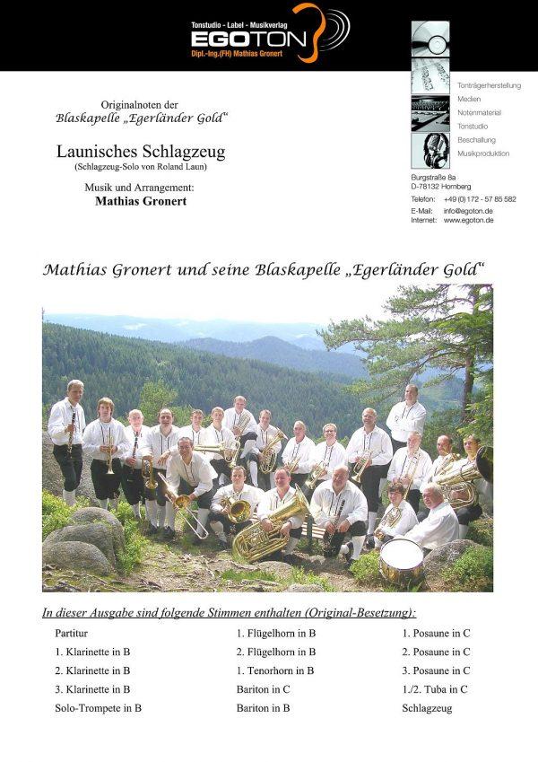 Launisches Schlagzeug, Solo-Polka von Mathias Gronert
