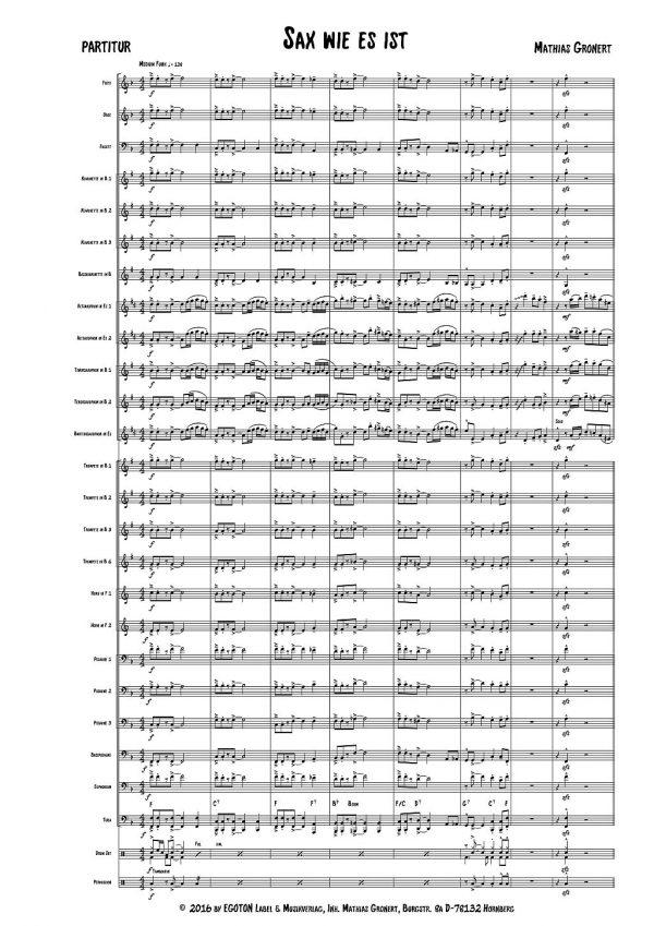 Sax wie es ist, Solo-Funk für Saxophone von Mathias Gronert